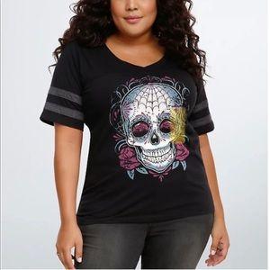 Torrid Sugar Skull T Shirt Size Large